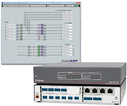 Extron Now Shipping Six Input, Four Output Audio Expansion Processor with AEC and Dante
