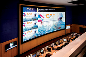Extron Quantum Elite Powered Videowall Provides Clear View of Network Conditions for Thailand's CAT Telecom