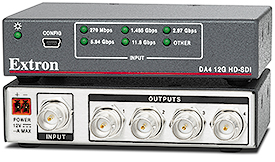 Extron Now Shipping Four Output 12G-SDI Distribution Amplifier for 4K/60 Video