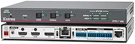 Extron Introduces New Advanced Three-Input 4K/60 Switcher with Integrated DTP2 Transmitter