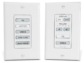 Extron Introduces eBUS Button Panels for Decorator-Style Wallplates