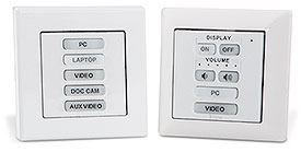 Extron Introduces eBUS Button Panels for EU and MK Wall Frames