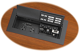 Extron's New EBP 1200C Combines Room Control with Cable Cubby Convenience