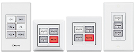 Extron Now Shipping Four eBUS Button Panels with Field-Labelable Buttons