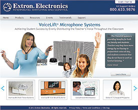 Extron Launches New Classroom Technology Web Site for Education Professionals