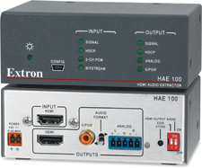 Extron Now Shipping HDMI Audio De-Embedder