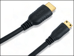 Figure 1: Relative size comparison between the Type A and Type C HDMI connectors