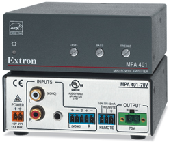 Extron MPA 401 ENERGY STAR® Qualified Mini Power Amplifier Now Shipping