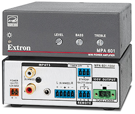 Extron Now Shipping 60 Watt ENERGY STAR® Qualified Mini Power Amplifier