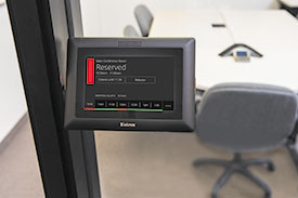 Now Use an Extron TouchLink Pro Touchpanel as a Full-Featured Room Booking Appliance