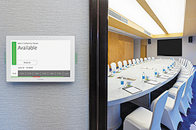 "New Larger Extron 10"" Room Scheduling Panel - Book a Room the Easy Way"