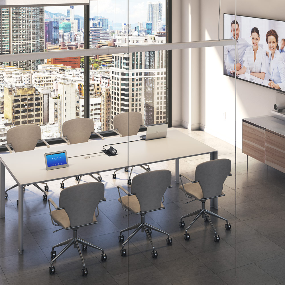 Meeting Room With Cisco Video Conferencing