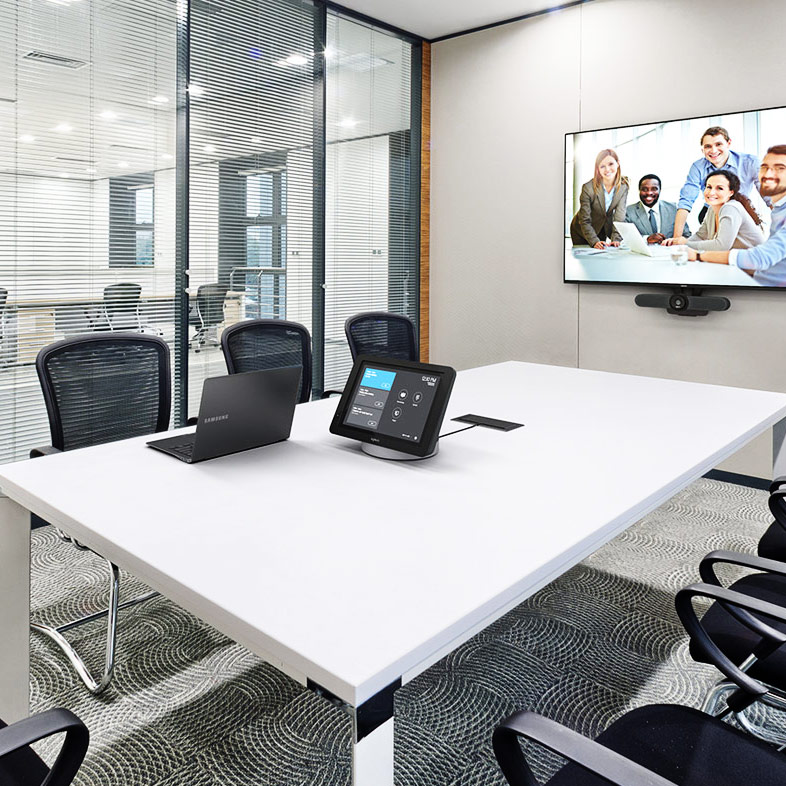 Logitech Video Conferencing on table in meeting room