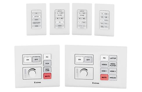 Network button panel with six buttons