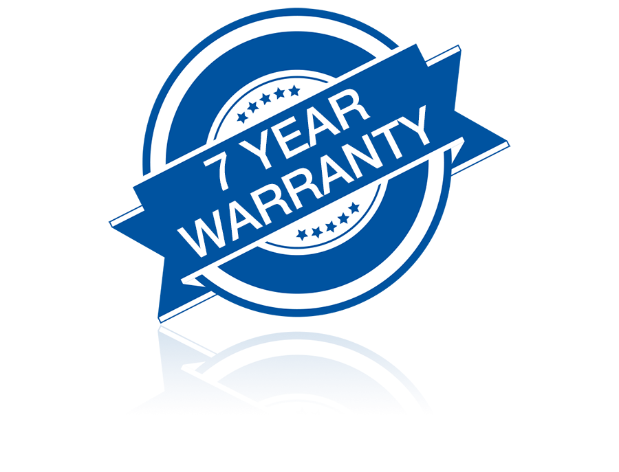 7 Year Parts and Labor Warranty