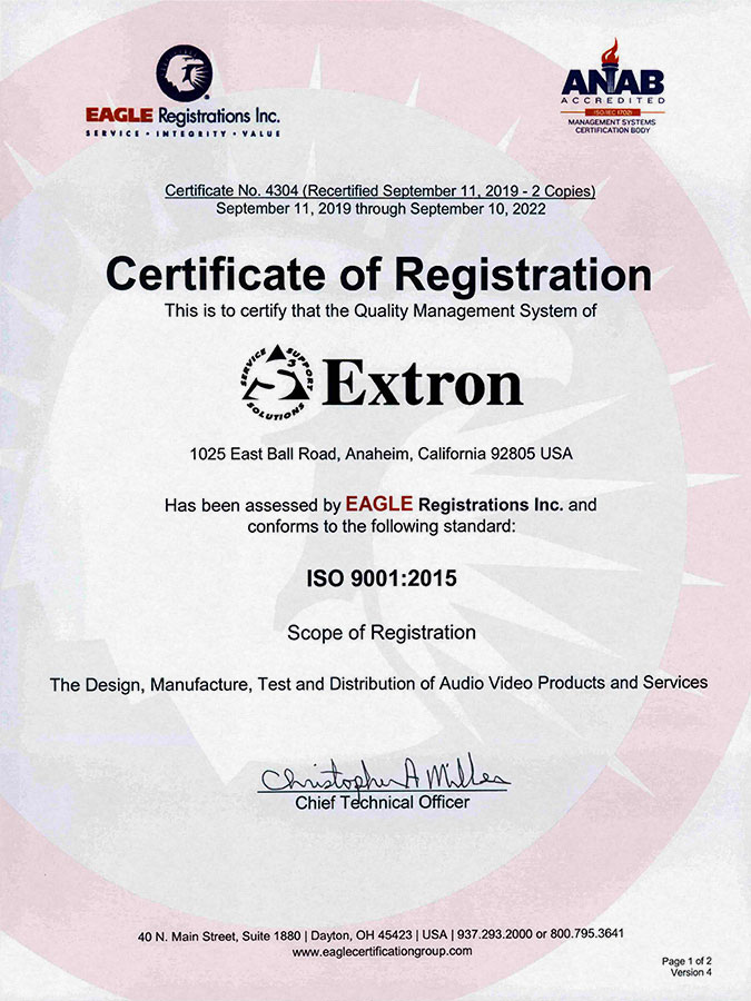 North America ISO 9001:2015