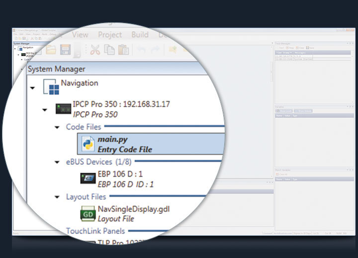 System Manager screenshot