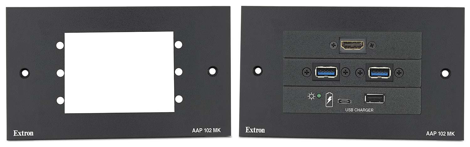 AAP 102 MK shown with optional Extron AV modules