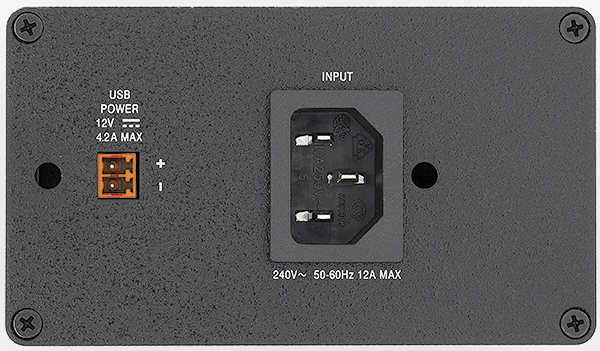 AC+USB 311 non-US power modules are equipped with an IEC power connector