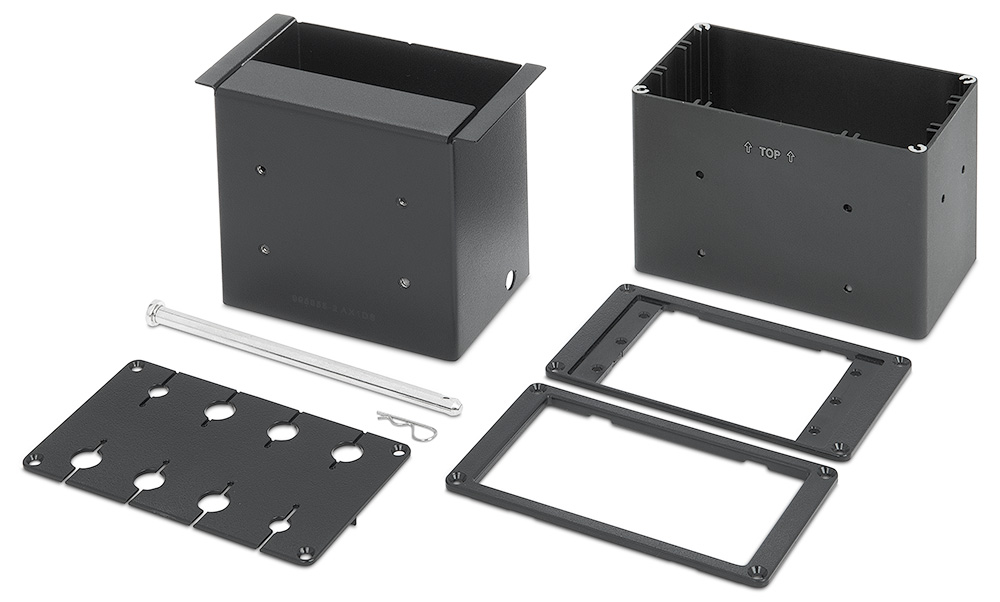 Included brackets accommodate three Retractors, eight AV cables, or three AAP- Architectural Adapter Plates
