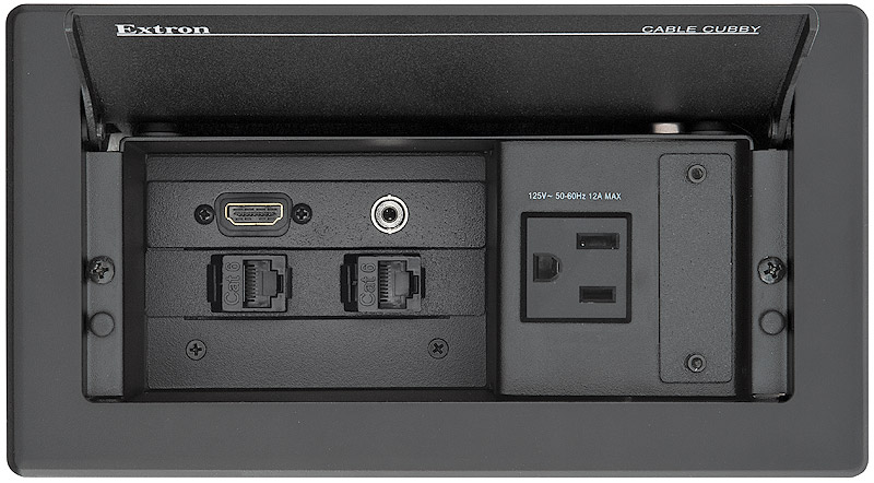Cable Cubby 202 shown with optional AAP AV Connectivity Modules