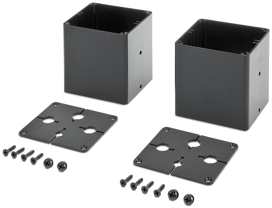 Cable Pass-Through Kit - Quad for Cable Cubby 1200/1400 enclosures, supports up to four AV cables per side