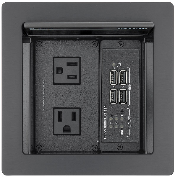 Cable Cubby 500 shown with USB Extender AAP Rx, sold separately