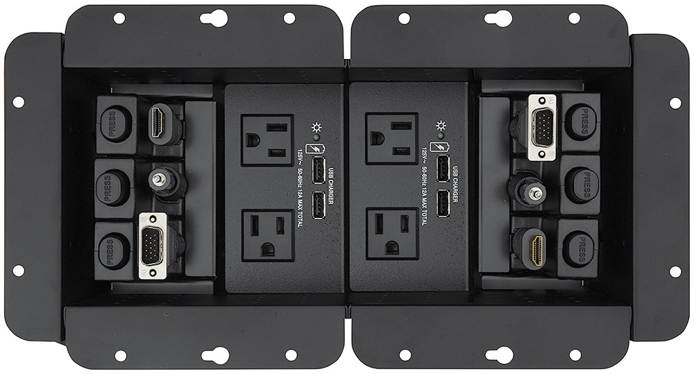 Compatible with Cable Cubby Series/2 optional power modules and accessories