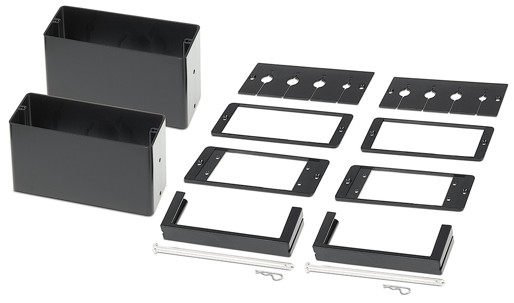 Included brackets accommodate six Retractors, eight AV cables, or four AAP- Architectural Adapter Plates