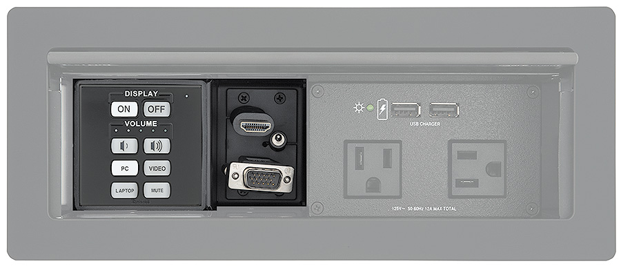 CCM 155 - Installed in a Cable Cubby 1200 with optional control module and cables