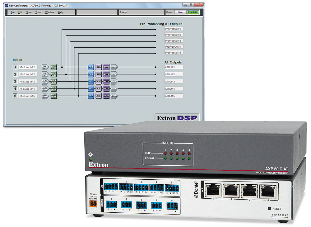 AXP 50 C AT with DSP Configurator Configuration Software