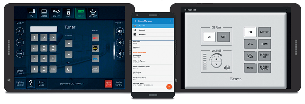 Extron Control for Android