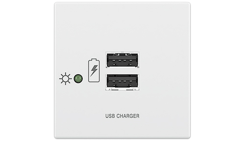 USB power modules provide two 5 VDC USB power outlets for charging iOS and Android phones or tablets