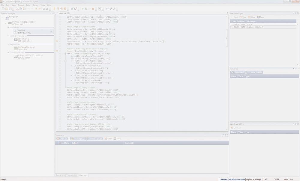 Global Scripter - Software | Extron