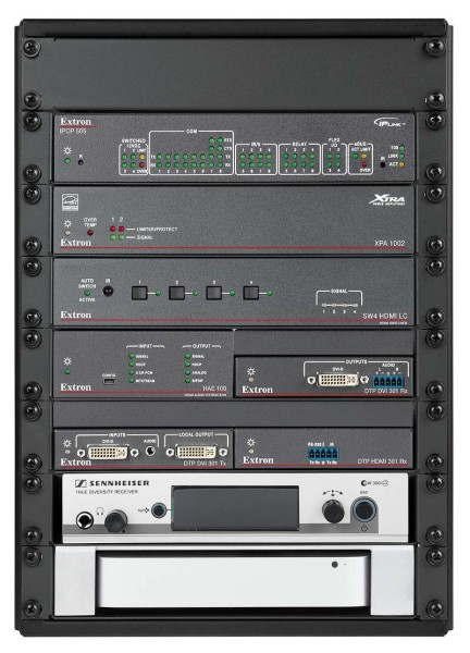 Half Rack System shown with optional items installed
