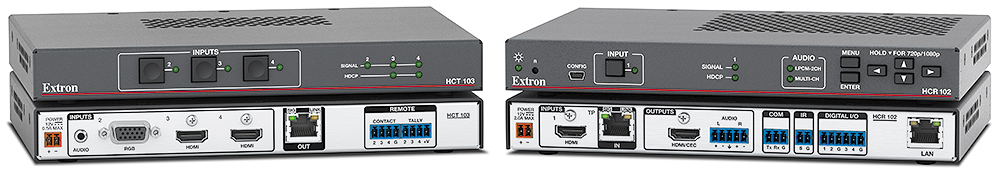 "HC 404<br /><span class=""text-small text-error"">Extron XTP DTP 24 shielded twisted pair cable is strongly recommended</span>"