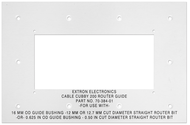 Cable Cubby 200 Routing Template