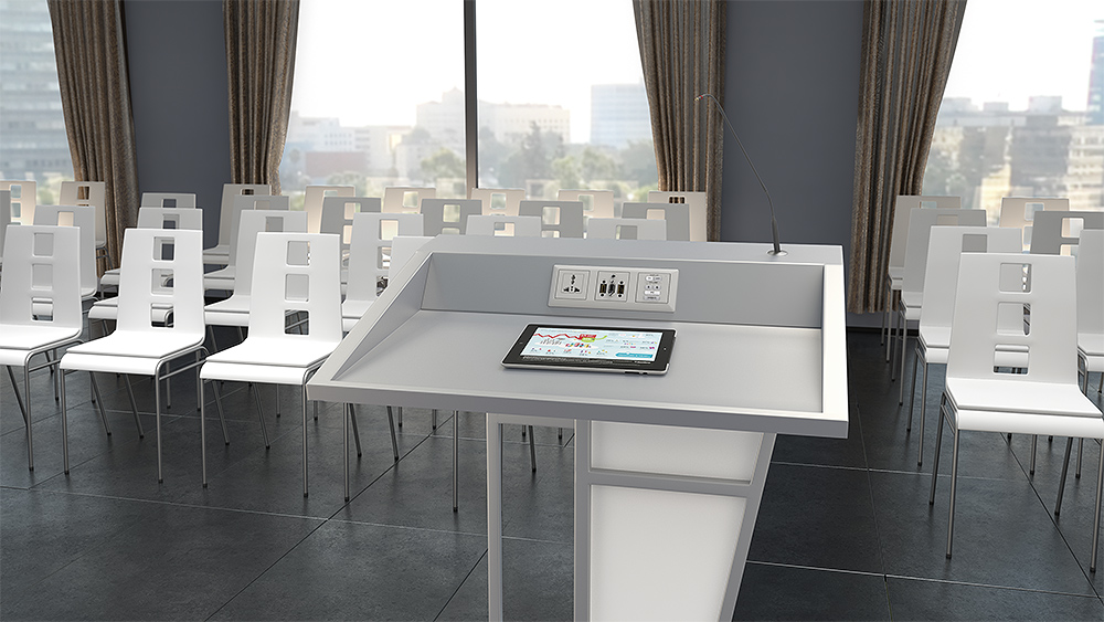 Extron Flex55 modules and mounting products provide a stylish architectural solution that works almost anywhere