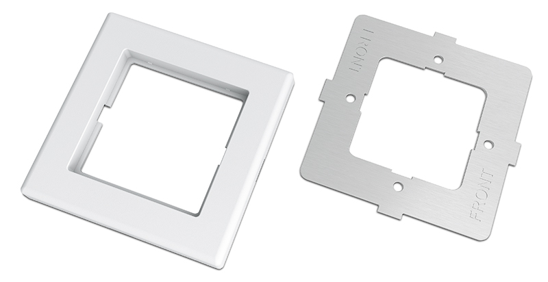Each opening accommodates one module and comes with a trim frame and mounting bracket
