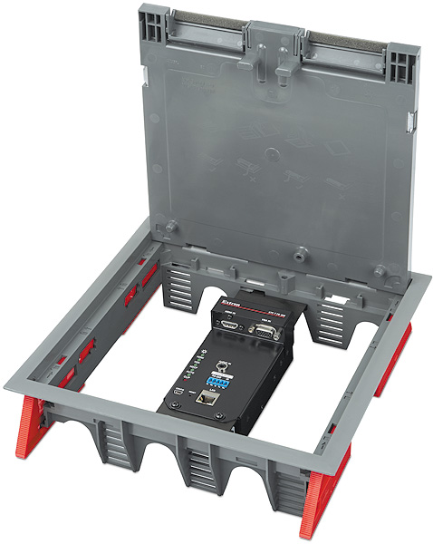 "XTP T FB 202<p class=""small-text"">Shown in Ackermann / MK Electric CableLink Plus Modular  floor box assembly</p>"