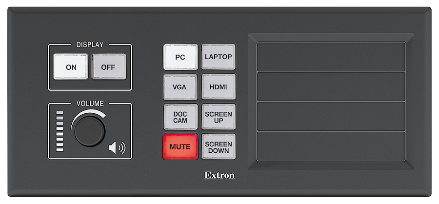 MLM 200 AAP - Black<br/>Shown with optional button panel and blank AAPs.