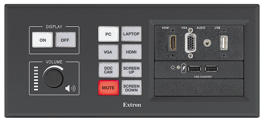MLM 200 AAP - Black <br/>Shown with optional button panel and AAPs