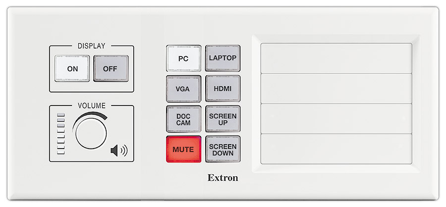MLM 200 AAP - White<br/>Shown with optional button panel and blank AAP plates