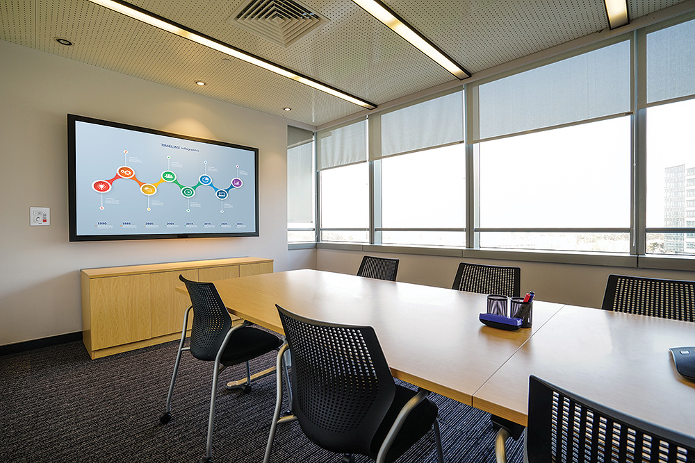 NBP 100 shown in conference room