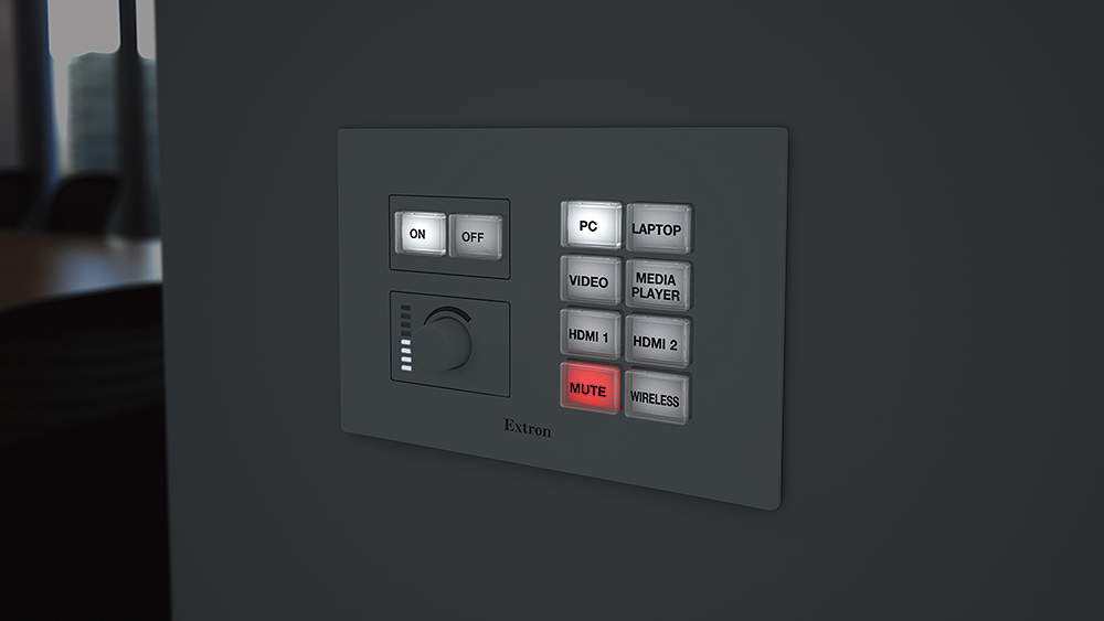 Backlit buttons provide easy operation in low-light environments