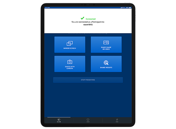 Connecting to a ShareLink Pro 500 or ShareLink Pro 1100 from an iPad