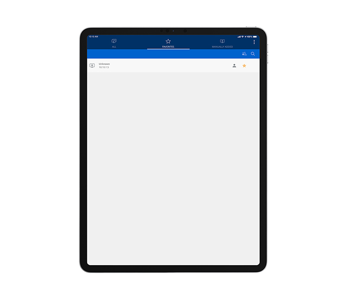 Select a ShareLink Pro 500 or ShareLink Pro 1000 to Connect from an iPad