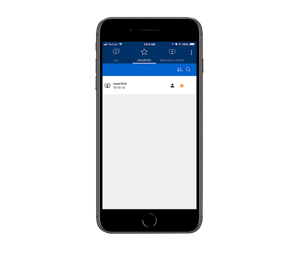 Select a ShareLink Pro 500 or ShareLink Pro 1100 to Connect from an iPhone