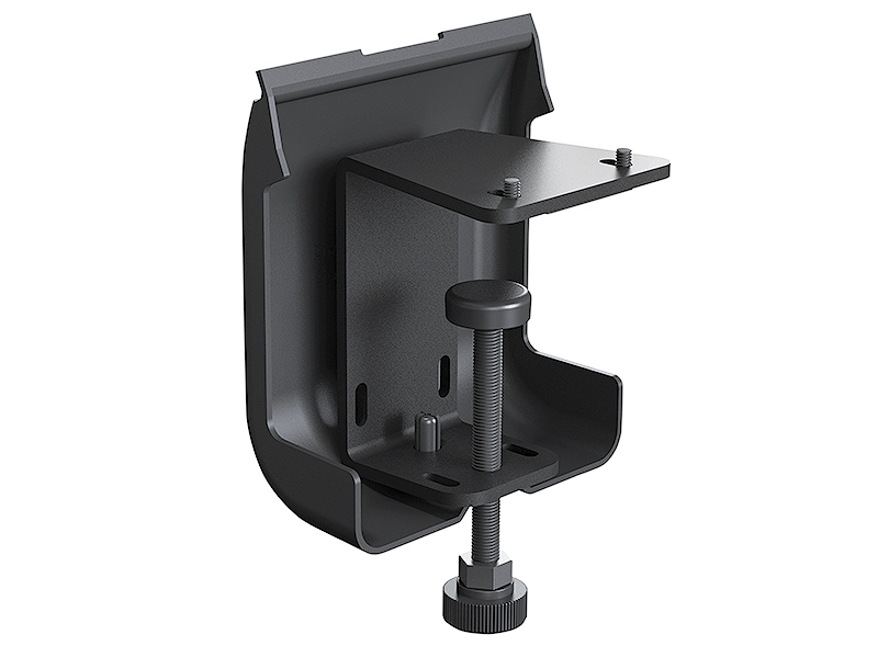 Table Clamp Kit provides an alternate table edge mounting option and cable management method