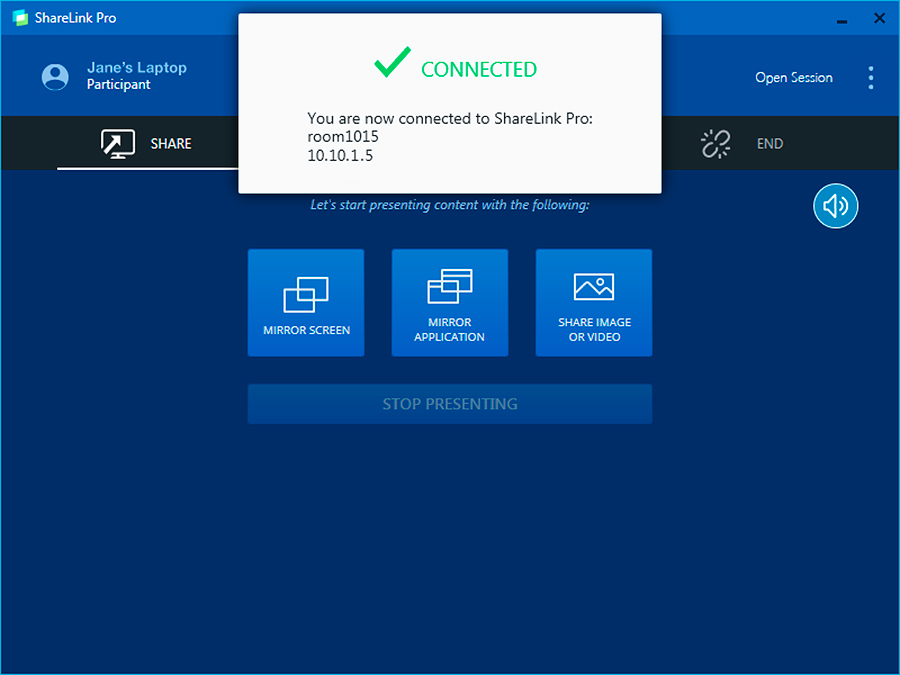 Connecting to a ShareLink Pro 1100 from the ShareLink Pro software